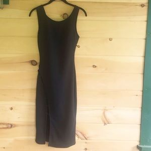 UK2LA black dress lattice caging